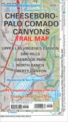 Cheeseboro and Palo Comado Canyons, California by Tom Harrison Maps
