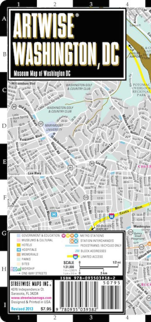 ArtWise Washington, DC, Museum Map by Streetwise Maps, Inc on