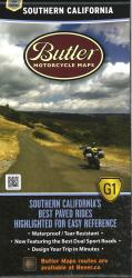 Southern California G1 Map by Butler Motorcycle Maps