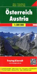 Austria, Road Map by Freytag, Berndt und Artaria