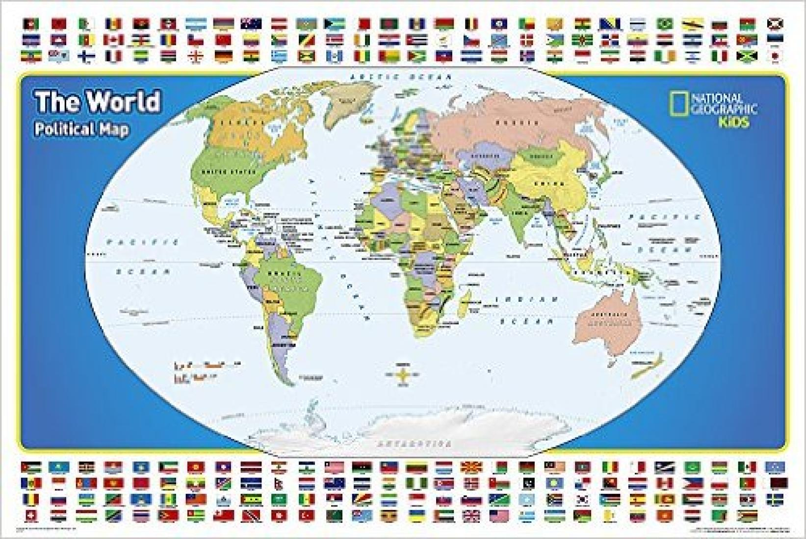 the world for kids laminated wall map by national geographic society