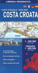 Croatian Coast Road Map by Libreria Geografica