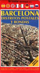 Barcelona, Districts, Postal and Rounds, Spain by Distrimapas Telstar, S.L.