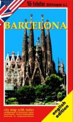 Barcelona, Spain, English Edition by Distrimapas Telstar