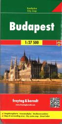 Budapest, Hungary road map by Freytag, Berndt und Artaria