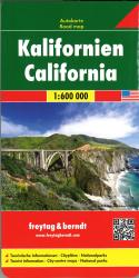 California road map by Freytag, Berndt und Artaria