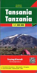 Tanzania road map by Freytag, Berndt und Artaria
