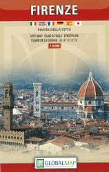 Florence, Italy, Tourist City Center by Litografia Artistica Cartografica
