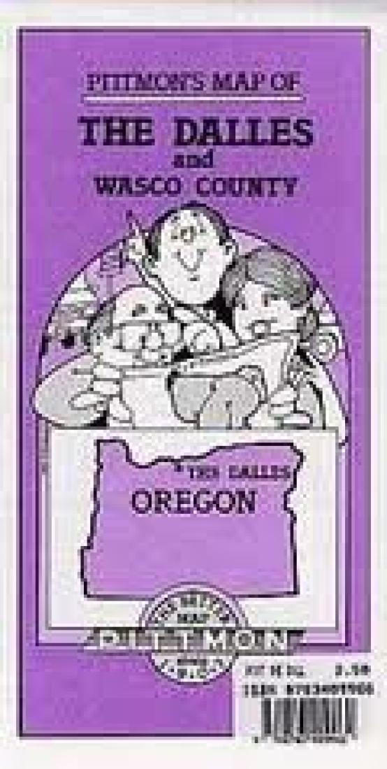 The Dalles And Wasco County Oregon By Pittmon Map Company