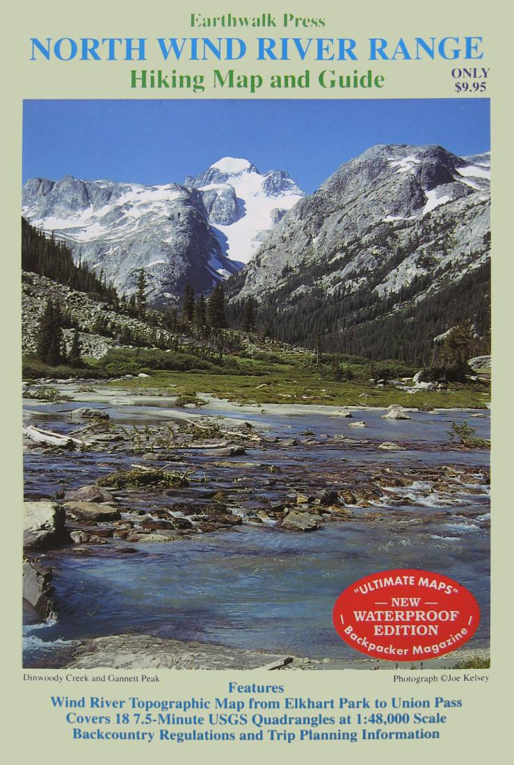 Wind River Range Wyoming Map.Wind River Range Wyoming Northern Waterproof By Earthwalk Press
