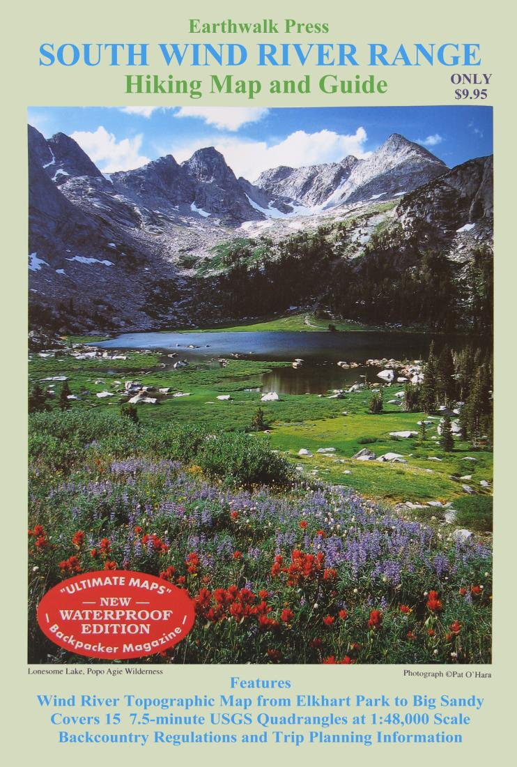 Wind River Range Wyoming Map.Wind River Range Wyoming Southern Waterproof By Earthwalk Press