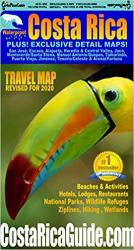 Costa Rica Travel Map by Toucan Maps Inc.