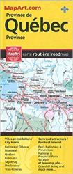 Quebec Province Road Map by Canadian Cartographics Corporation