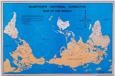 McArthur's Universal Corrective Map of the World, laminated by ODT, Inc.