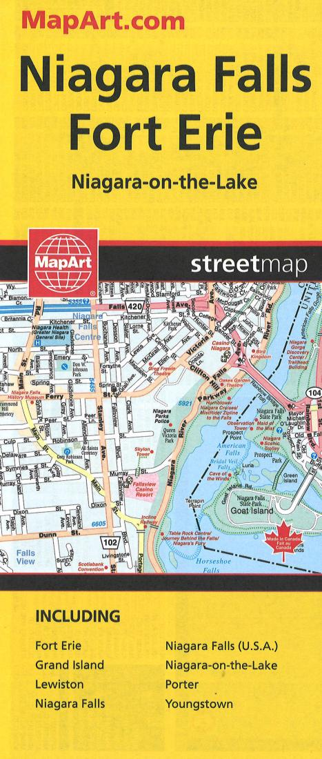Niagara Falls And Fort Erie Street Map By Canadian Cartographics Corporation