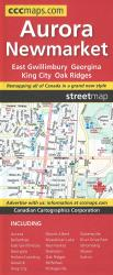 Aurora and Newmarket Street Map by Canadian Cartographics Corporation