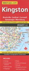 Kingston Cornwall Brockville Street Map by Canadian Cartographics Corporation