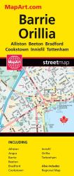 Barrie and Orillia Map by Canadian Cartographics Corporation