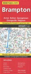 Brampton Orangeville Acton Georgetown Street Map by Canadian Cartographics Corporation