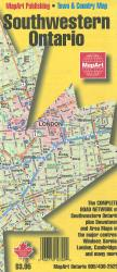Southwestern Ontario Road Map by