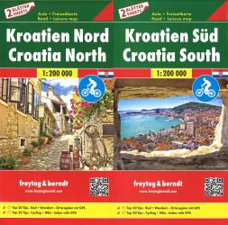 Croatia Map Pack, Croatia North and South by Freytag-Berndt und Artaria
