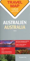 Australia Travel Map by Kunth Verlag