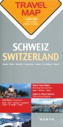 Switzerland Travel Map by Kunth Verlag