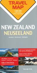 New Zealand Travel Map by Kunth Verlag