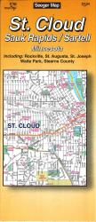 St. Cloud, Sauk Rapids and Sartell, Minnesota by The Seeger Map Company Inc.