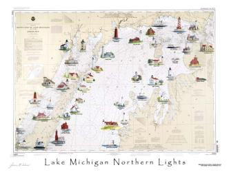 Lake Michigan, Northern Lights by Avery Color Studios