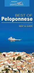 Peloponnese, Greece Laminated Map and Guide by Road Editions