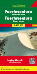 Fuerteventura, Canary Islands Road Map by Freytag, Berndt und Artaria