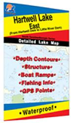 Hartwell Lake-East Fishing Map by Fishing Hot Spots