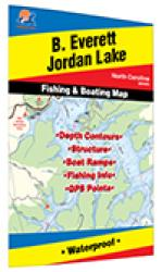 B. Everett Jordon Lake Fishing Map by Fishing Hot Spots
