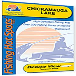 Chickamauga Lake Fishing Map by Fishing Hot Spots