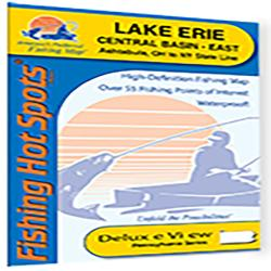 Lake Erie Central Basin East Fishing Map (Ashtabula, Ohio to New York State Line) by Fishing Hot Spots