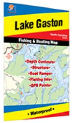 Gaston Lake Fishing Map by Fishing Hot Spots
