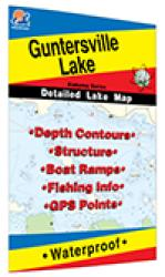 Guntersville Lake Fishing Map by Fishing Hot Spots