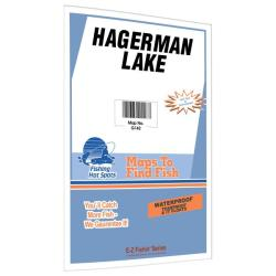 Hagerman Lake Fishing Map by Fishing Hot Spots