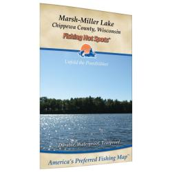 Marshmiller Lake (Chippewa Co) Fishing Map by Fishing Hot Spots
