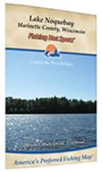 Lake Noquebay Fishing Map (Marinette Co) by Fishing Hot Spots