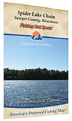Spider Lake Chain Fishing Map (Sawyer Co) by Fishing Hot Spots