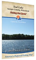 Teal Lake/Teal River Flowage (Sawyer Co) Fishing Map by Fishing Hot Spots