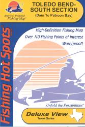 Toledo Bend-South Section (Dam to Patroon Bay - LA/TX) Fishing Map by Fishing Hot Spots