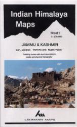Indian Himalaya, Jammu & Kashmir sheet 3 - Nubra Valley, Leh, Zanskar by West Col Productions