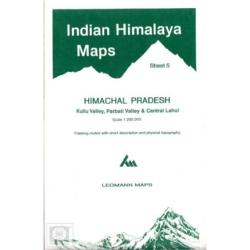 Indian Himalaya, Himachal Pradesh sheet 5 - Kulu, Parbati, Central Lahul by West Col Productions