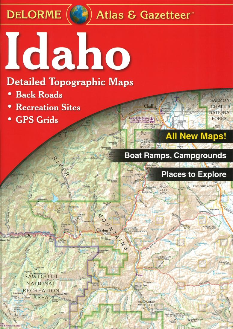 Idaho atlas and gazetteer by delorme for Idaho fish and game phone number