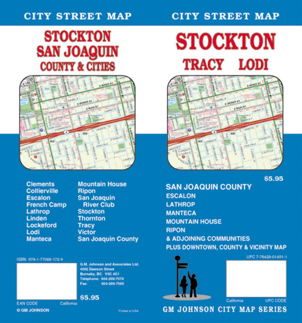 Linden California Map.Stockton Tracy And Lodi California By Gm Johnson