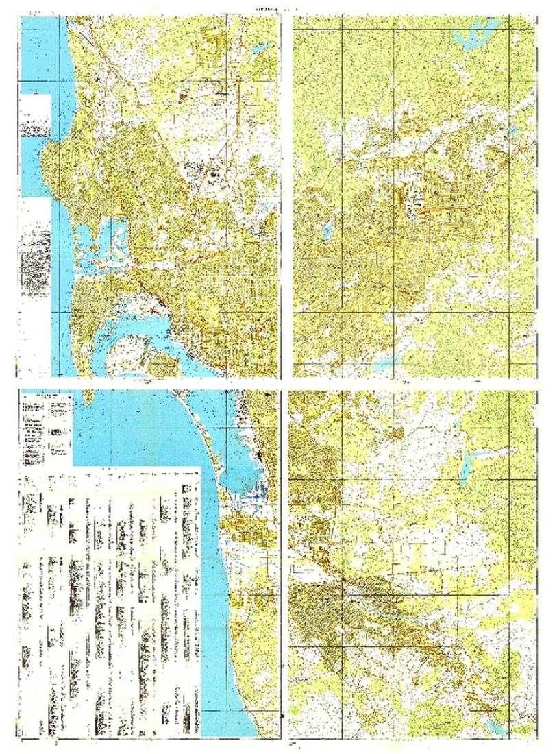 Map Of California Mexico.San Diego California Tijuana Mexico Cold War Map Set Of 4 Maps By Ussr Ministry Of Defense