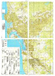 San Diego, California/Tijuana, Mexico, Cold War Map, Set of 4 Maps by USSR Ministry of Defense